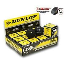 Caja Pelota Squash Dunlop Doble Punto Amarillo Caja