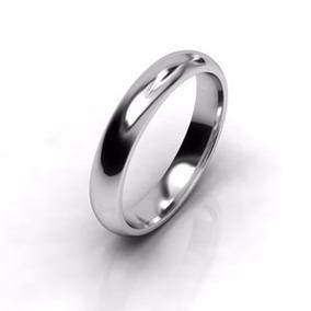 Par De Argollas De Matrimonio De 4mm Y Zafiro De 2mm
