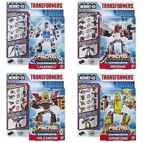Kre-o Micro Transformers Bloco Montar Hasbro Kit 04 Pçs Orig