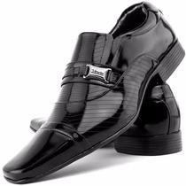 Sapato Social Masculino Couro Envernizado Alto Brilho Dhl