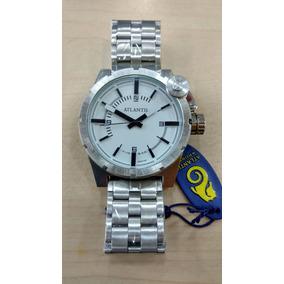 Relógio Atlantis G3309 Original Estilo Diesel Prata Frete Gr