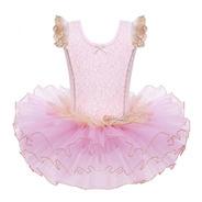 Vestido Infantil Balé Bailarina Luxo Floral Saia Tutu Armada