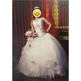 Vestido De Xv Años Perla Con Palo De Rosa