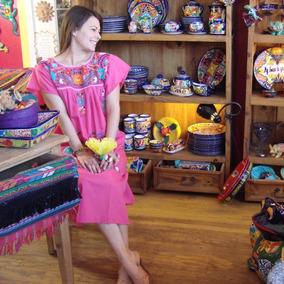 Vestido Tradicional Mexicano, Bordado A Mano