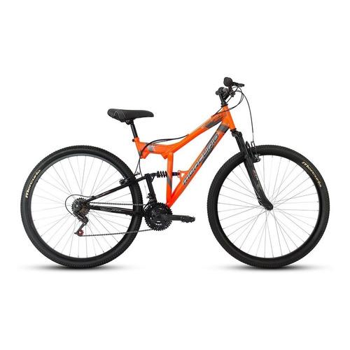 Mountain bike Mercurio Doble Suspensión ZTX DH  2020 R29 18v frenos v-brakes color naranja/negro brillante