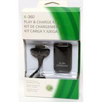 Kit Carregador Bateria P/ Controle De Xbox 360 Frete Grátis