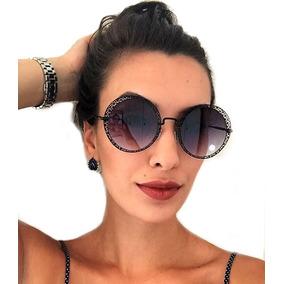 26c295440701f Oculos Redondo Preto De Sol Outras Marcas - Óculos no Mercado Livre ...