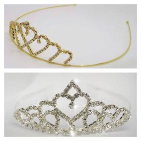 Kit Tiara De Coroa Princesa 2 Peças Festa Lembracinha Format