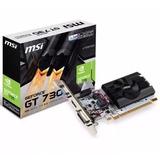 Tarjeta De Video Nvidia Geforce Gt 730k Msi 2gb Ddr3 Pci Exp