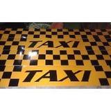 Dameros Taxi Rotulados Y Imantados