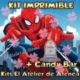 Kit Imprimible Spiderman Hombre Araña Candy Bar Golosina