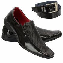Sapato Social Envernizado Masculino Khaata + Cinto