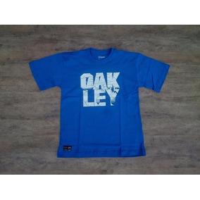 Camiseta Infantil Juvenil Oakley Rain Azul Menino Camisa. R  45 f787fb23d6d