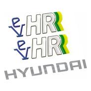 Adesivos Emblemas Hyundai Ev Hr Porta + Capo Resinado Hr02
