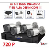 Cctv Kit Vigilancia Saxxon 4 Camaras Bullet Sax4104xhkit