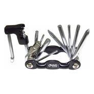 Canivete Alumínio 10 Funções C/ Chave Corrente Wg Sports