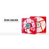 Fan Cooler / Ventilador Para Gabinete Rojo Led 12 X12