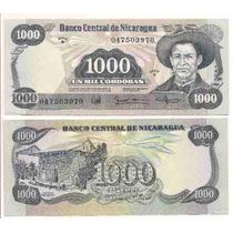 Billete De Nicaragua 1000 Cordobas Sandino Año 1985