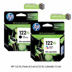 Kit Cartucho 122xl Preto E Color Original Frete Gratis