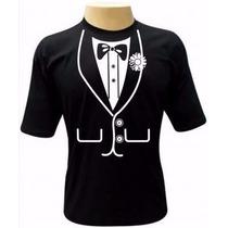 Camiseta Smoking - Camisa Terno, Personalizada, Divertidas
