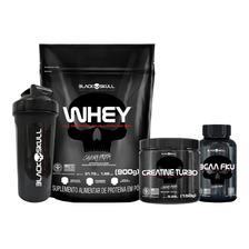 Combo Whey Protein + Bcaa + Creatina + Brinde