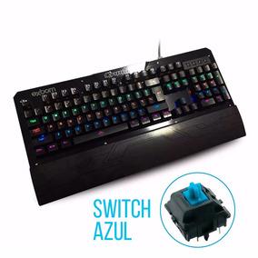 Teclado Mecânico Gamer Em Metal - Iluminação Led Switch Azul