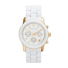 c109f120ae282 Relogio Michael Kors Mk5145 Branco Dourado - Relógios De Pulso no ...