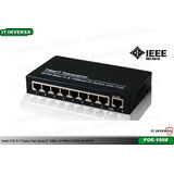 Switch Poe 8+1 Puertos Para Camara Ip 100mts 10/100mb Ieee80