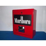Maquina Despachadora Cigarros Letrero Negro Letras Blanca