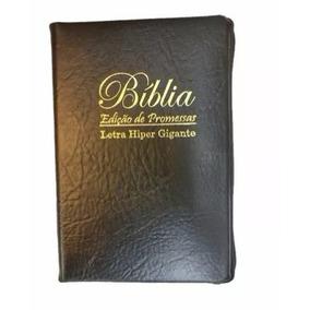 Bíblia Sagrada Letras Hiper Gigante Plus Cor Preta Ziper