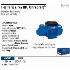Bomba Periférica Agricola Riego 1/2 Hp Economica Uso Ligero