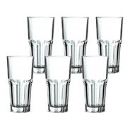 Jogo Copos Long Drink Água Suco Multiuso 300ml Sydney 6peças