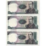 Billetes 20 Bolívares Tres-1987 A-8 Urdaneta 960 Soberanos