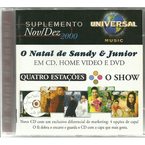 Cd Universal Music Suplemento Dez. 2000 Sandy E Junior Ivete