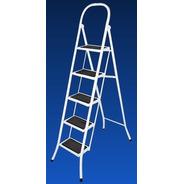 Escalera Metalica  Reforzada Plegable 5 Escalon Acero Ramos