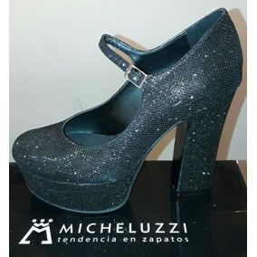 Zapatos Con Taco Y Plataforma Micheluzzi Art135