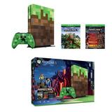 Xbox One S Minecraft Ed Limitada 1tb+2juegos + Envio Gratis!