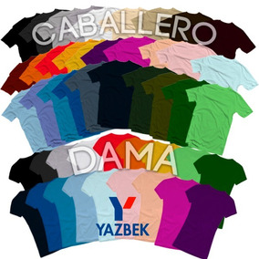 Playeras Yazbek Originales Algodon 40 Colores Disponibles!!!