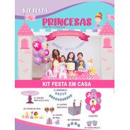 Kit Festa Princesas Happy Day Festa Em Casa Decoração
