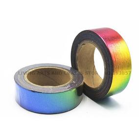 Fita Adesiva Washi Tape Multi Colorida 3 Rolos Scrapbook