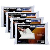 Kit 4 Travesseiros Nasa Antialérgico 100% Viscoelástico