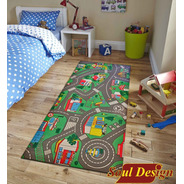 Carpeta Vinilica Calles Pista 90 X 200 Cm Espesor 2 Mm Infantil Soul