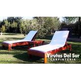 Reposera Camastro De Madera- 180x60 Cm- 100% Impermeables!!!