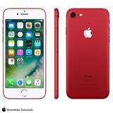 Iphone 7 Vermelho/red Tela 4,7 4g 128 Gb 12 Mp Mprl2br/a