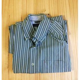 Camisa Social Listrada Tommy Hilfiger