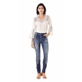 Calca Jeans M.julia Puidos Florais Maria Valentina Ref202289