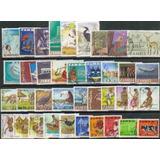 Zambia 38 Sellos Usados Años 1964/87 Mucha Fauna Y Nativos