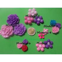 Apliques De Flores En Porcelana Fría Pack X 10 Unidades