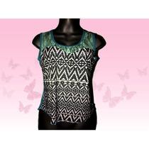 Bellas Blusas Damas Tipo Camiseta En Tela Algodon Peruano