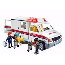 Playmobil 5681 - Ambulância E Paramédicos Com Luz E Som